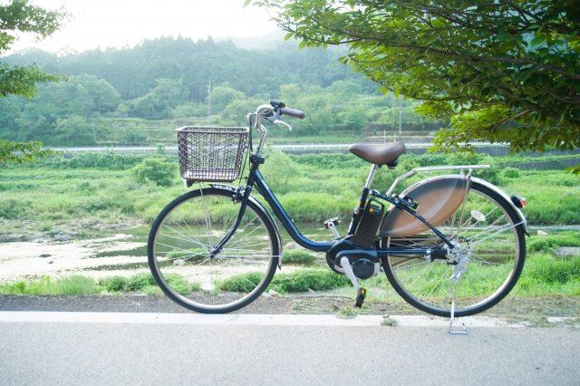 歩道での自転車